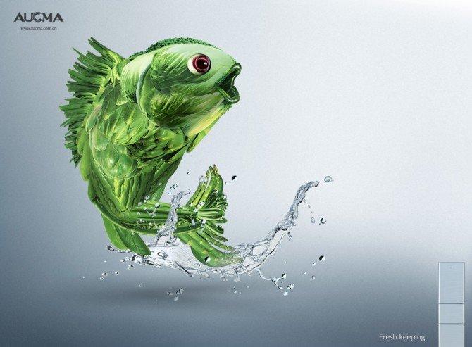 澳柯玛ACUMA冰箱平面创意广告欣赏