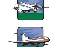 客机和运输机矢量素材