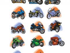14款摩托車矢量素材