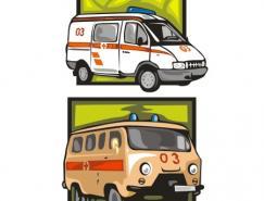2款救护车矢量素材