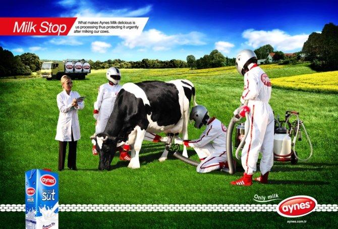 AYNES牛奶广告欣赏