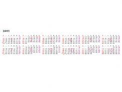 2011年日历矢量图下载