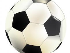 逼真矢量足球