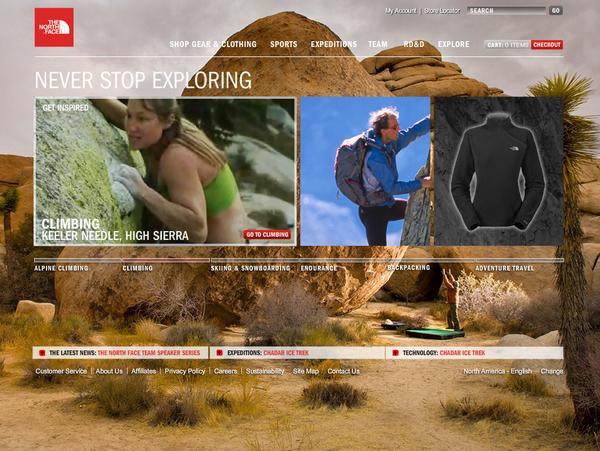 户外品牌thenorthface(乐斯菲斯)网站设计