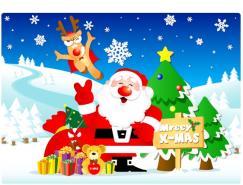 圣诞节主题背景矢量素材(04)