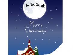 圣诞节主题背景矢量素材(13)