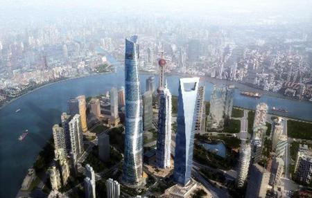 中国第一高楼 上海中心大厦公布设计方案