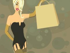 时尚女性插画矢量素材(4)