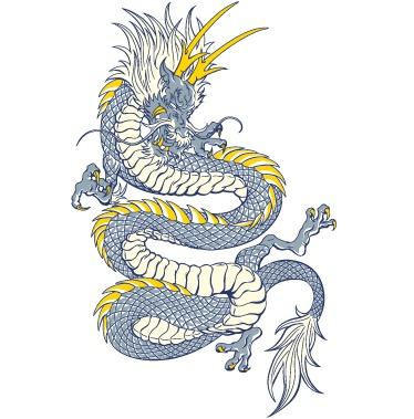 关键字:彩色中国龙矢量素材,龙纹,龙,中国龙,eps格式