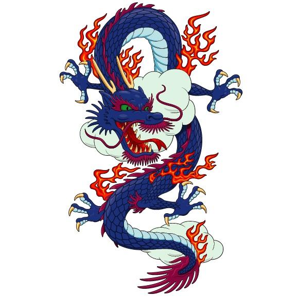 中国龙矢量素材(4)