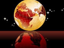 星空地球矢量素材