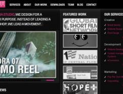 25个黑色系网站设计欣赏之一