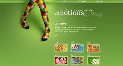 Emotions screen shot