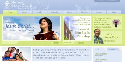 Memorial Baptist Church screen shot