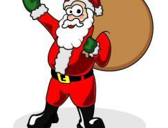 卡通圣诞老人矢量素材