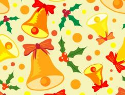 圣誕鈴鐺底紋背景矢量素材