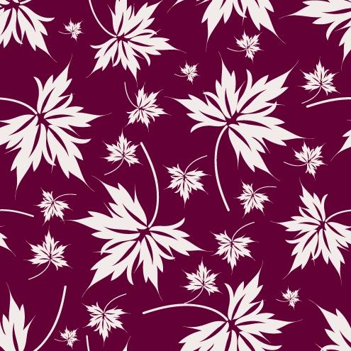 树叶花纹背景矢量素材