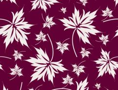 樹葉花紋背景矢量素材
