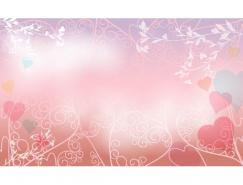 浪漫结婚背景矢量素材(06)