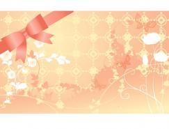 浪漫结婚背景矢量素材(08)
