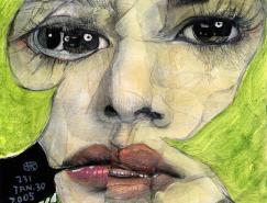 破碎的脸:日本木村贵宏人物拼贴画欣赏