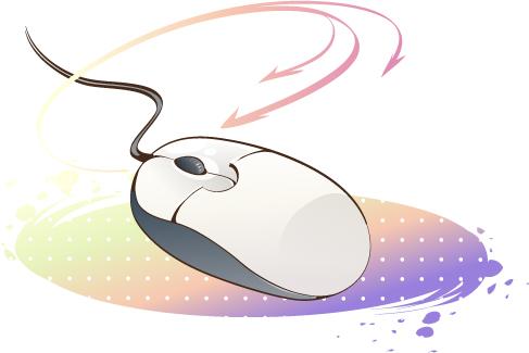 韩国卡通电器物件:鼠标矢量素材