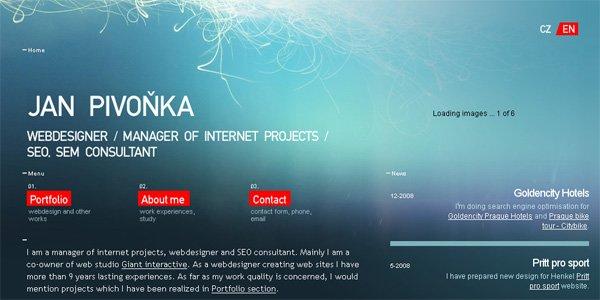 17个蓝色系网页设计欣赏