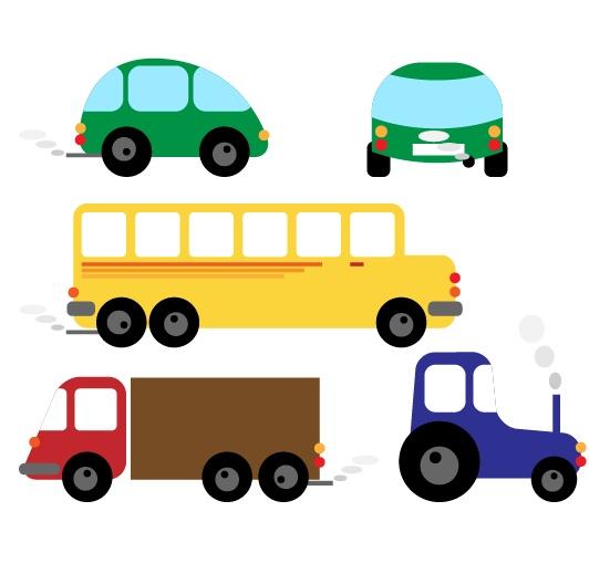矢量儿童玩具,玩具火车,轮船,帆船,自行车,货车,bus,电车,公共汽车图片