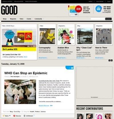 风格各异的25个杂志在线网站设计欣赏