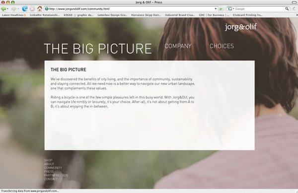 Jorg&Olif自行车品牌WEB设计欣赏