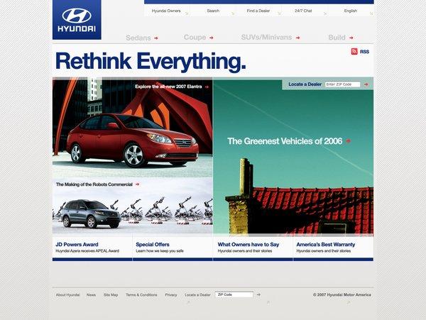 现代汽车(Hyundai)WEB界面设计