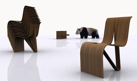 木制凳子手绘图