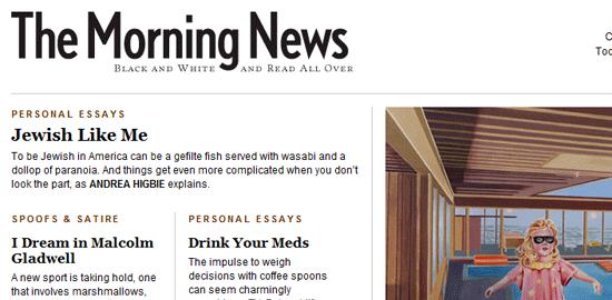 The Morning News - screen shot.