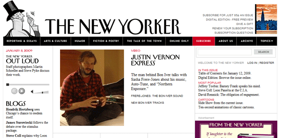 The New Yorker - screen shot.