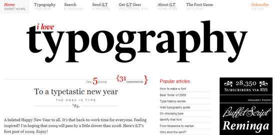 I Love Typography - screen shot.