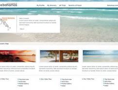 巴哈马(Bahamas)旅游WEB界面设计