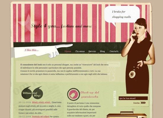40个经典复古风格网站设计欣赏(4)
