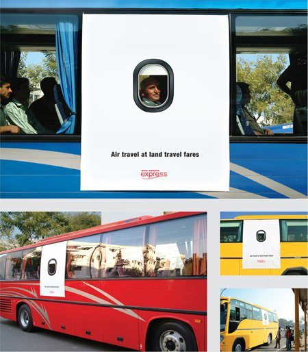 Air India Express Bus Advertisement