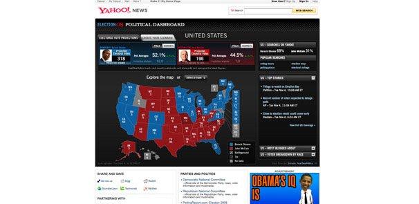 10个著名网站的美国大选网页界面设计