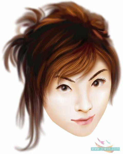 Illustrator鼠绘教程:运用渐变网格绘制人物和头发的过程
