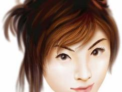 Illustrator运用渐变网格绘制人物和头发