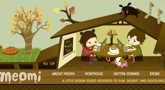 30个运用插画的网站设计