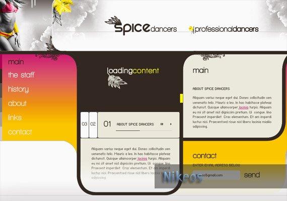 Spice Dancers Interface design-inspiration