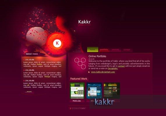 Portfolio v1 web-design-inspiration