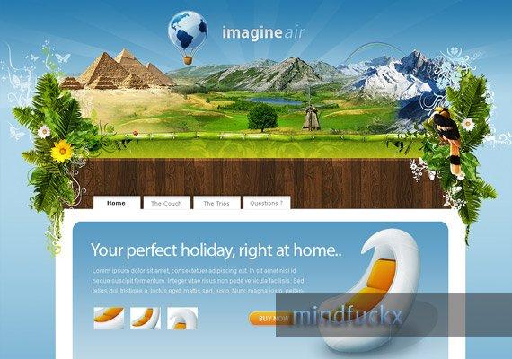 Imagine Air web-design-inspiration