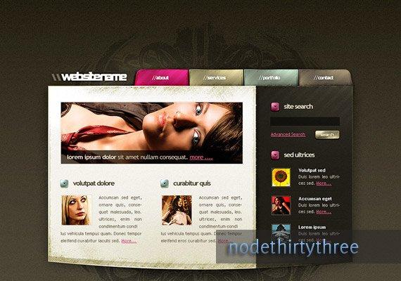 Art themed template web-design-inspiration