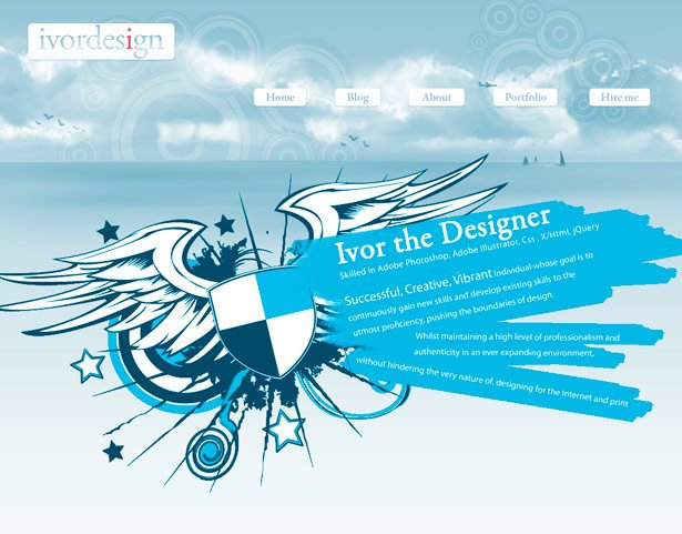 50个单色配色网站设计