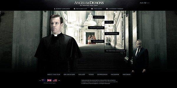 酷站欣赏:电影《天使与魔鬼(Angels&Demons)》网站