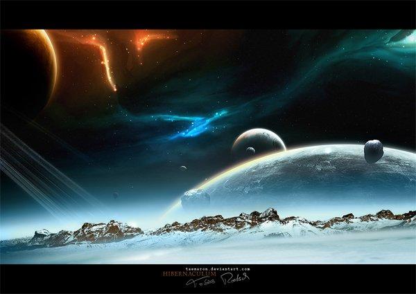 40个科幻外太空CG作品欣赏图片