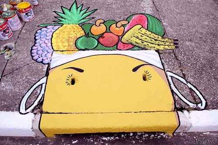 街头艺术:巴西的街道下水管道绘画欣赏 - 设计之家